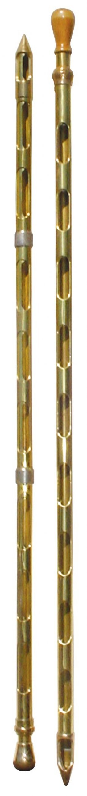 Grain Probes (2), Both Solid Brass, One W/wood Kn