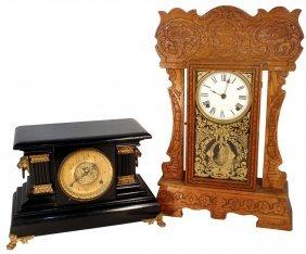 Clocks, Kitchen & Mantle, New Haven, Oak W/presse