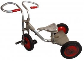 Tricycle, Aluminum W/springer Seat, Hard Rubber T