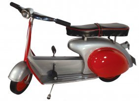 Pedal Car/scooter, 1957 Super Sonda Scooter, Stee