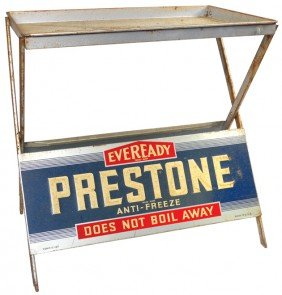 Eveready Prestone Anti-Freeze Display Rack, 2-sided