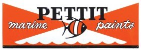 Pettit Marine Paints Embossed Metal Sign, Colorful,