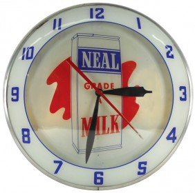 Neal Grade A Milk Double-bubble Light-up Clock, Mf