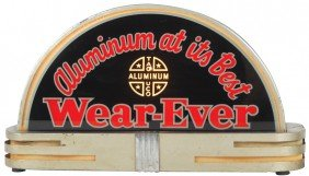 Wear-Ever Aluminum Light-up Counter Sign, 2-sided