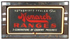Monarch Ranges Neon Dealer Sign, Some Paint Loss