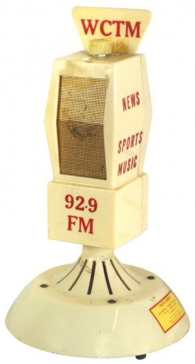 Radio Station Microphone From WCTM-92.9 FM, Mfgd