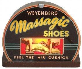 Massagic Shoes Light-up Sign, Reverse-painted Gla