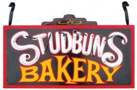 """Studbun's Bakery Outdoor Neon Sign, VG Cond, 24""""H"""