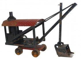 Toy, Buddy L Steam Shovel, Pressed Steel, 1921, VG Orig