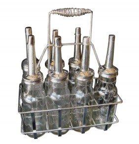 Petroliana, Standard Oil Co. Bottles In Wire Carrier, A