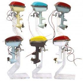 Miniature Outboard Motors (6), All Stream Line Ca