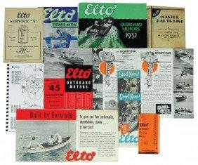 Boat Dealer Advertising Literature, 11 Pcs Of Elt