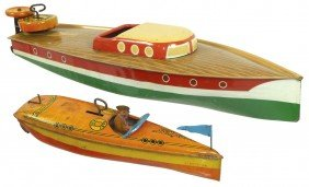Toy Boats (2), Lindstrom Tin Windups, Smaller One