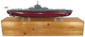 Toy Boat, Japanese Submarine #2, Wood, Battery Po