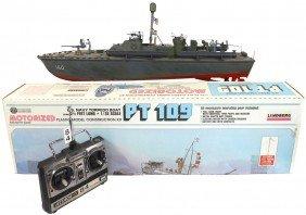 Toy Boat, Lindberg PT 160, Large Plastic Remote-c