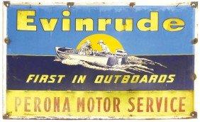 Boat Motor Dealer Advertising Sign, Evinrude Firs