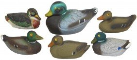 Decoys (6), Miniature Or Salesman Samples From Ca