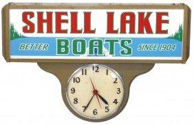 Boat Dealer Advertising Sign, Shell Lake Boats Li