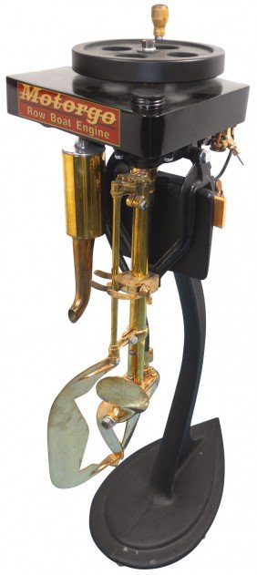 Boat Outboard Motor W/cast Metal Stand, Motorgo R