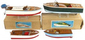 Toy Boats (4), Rico Battery Powered Speed Boat, W