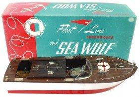 Toy Boat, Fleet Line Sea Wolf W/box, Exc Cond, 15