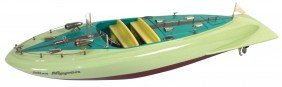 """Toy Boat, Japanese ITO Speed Boat, Very Rare """"Mis"""