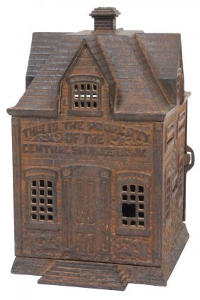 Still Bank, Cast Iron 4-tower Bank W/center Chimn