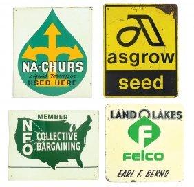 Fertilizer & Seed Signs (4), Nachurs Liquid Fertilizer,
