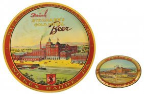 Breweriana Trays (2), Stegmaier's Beer Serving Tray,