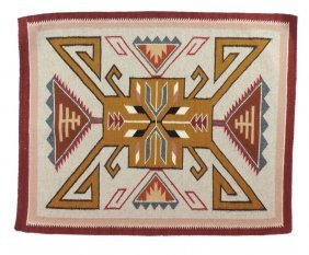 Native American Saddle Blanket, Navajo, Wool,