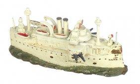 Still Bank, Battleship Maine, Mfgd By J.& E. Stevens,