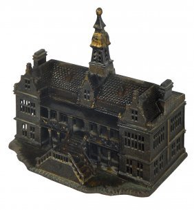 Still Bank, Palace, Mfgd By Ives, 1885, Cast Iron, Vg+