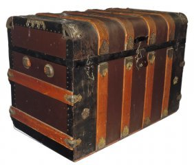 Furniture, Trunk, Flat-top Style W/colorful