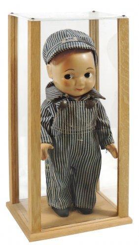 Doll, Buddy Lee Engineer, Lee Overalls & Hat, Hard