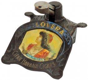 Advertising Cigar Cutter, Flor De Lovera-clear Havana