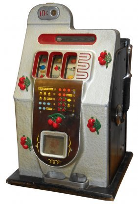 Coin-operated Slot Machine, Mills Cherry Bell, 10 Cent
