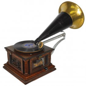 Music, Columbia Disc Graphophone, Ah Style, Front-mount