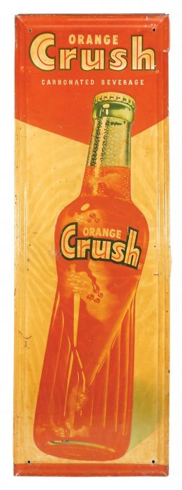Soda Fountain Sign, Orange-crush, Mfgd By Stout Sign