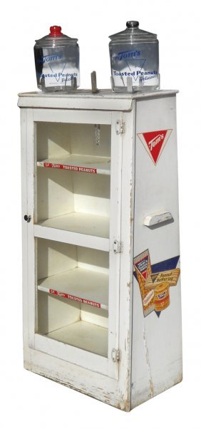 Country Store Display Case, Tom's Toasted Peanuts W/2