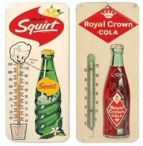 Soda Fountain Thermometers (2), Royal Crown Cola,