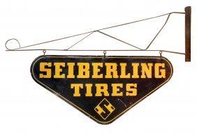 Automotive sign, Seiberling Tires, DS metal diecut