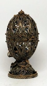 A Chinese Metal Egg Display