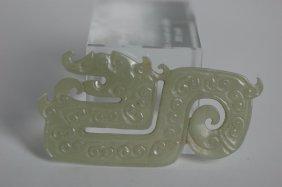 A White Jade Gryong Pendant