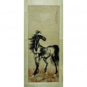 A Chinese Scroll Painting ,by Xu Beihong 徐