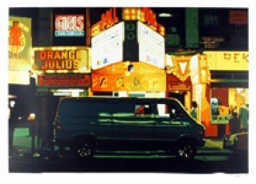 Noel Mahaffey, Night, Time Square, Silkscreen