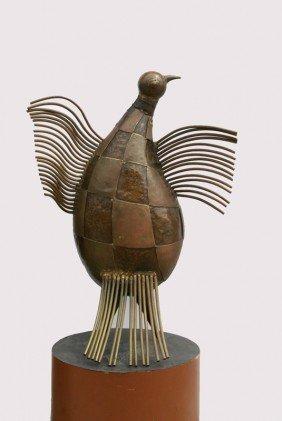 Victor Delfin, Baby Condor, Welded Bronze Sculptur