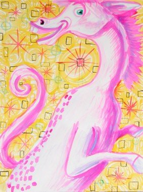 Kenny Scharf, Horsey, Magic Marker Drawing