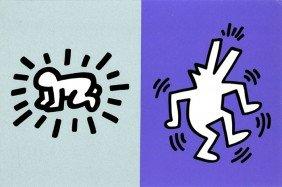 Keith Haring, Memorial Tribute Invitation, Silkscr