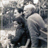 Boris Lipnitzki, Picasso, Francoise Gilot And Son