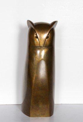 Constantin Antonovici, Cat, Bronze Sculpture